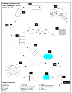 Northwoods Obstacle Trail Challenge Course Map